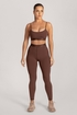 Trista Puff Sleeve Cropped Button Top - Sand